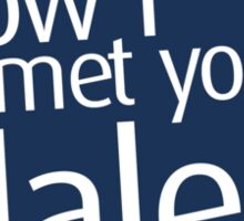 How I met your dalek Sticker