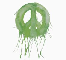 Dripping Peace Sign Kids Tee
