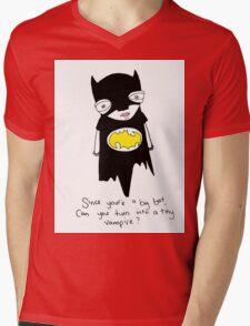 Abed Batman Mens V-Neck T-Shirt