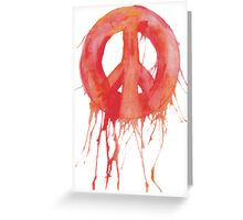 Dripping Peace Sign Greeting Card