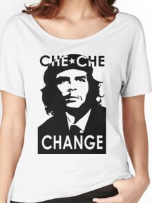 CHE CHE CHANGE: BLACK AND WHITE Women's Relaxed Fit T-Shirt