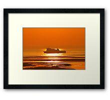 Commodore Clipper Sunrise Framed Print