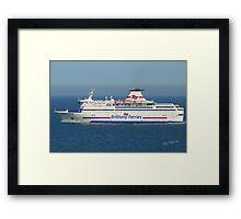 Brittany Ferries Bretagne Framed Print