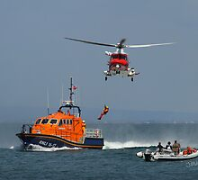 Bembridge Lifeboat & Helicopter by Jonathan Cox