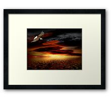 Under His Wings of Love Framed Print