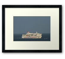 Brittany Ferries Pont Aven Framed Print