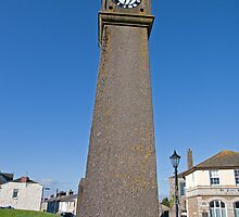 The clock tower in St Just Cornwall by Keith Larby