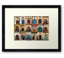 Doors of Sinasos Framed Print