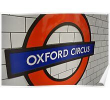Oxford Circus London Underground Station Poster