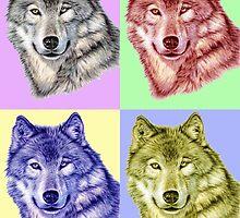 Wolf PopArt by Nicole Zeug
