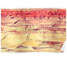Painted Desert Abstract Poster