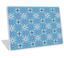 Knitted snowfall Laptop Skin