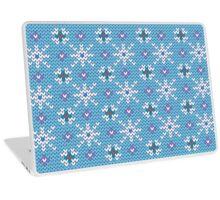 Knitted snowfall Laptop Skin