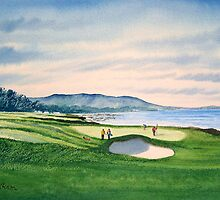 Pebble Beach 9Th Hole by bill holkham