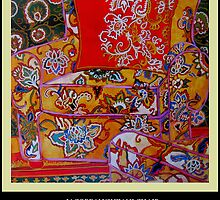 RED COMFORTABLE CHAIR by Linda Arthurs