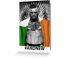 UFC Conor Mcgregor New Champion Greeting Card