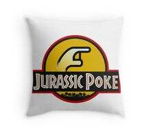 Jurassic Poke Throw Pillow
