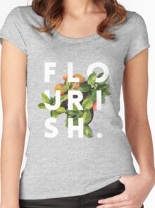 Flourish #redbubble #home #designer #tech #lifestyle #fashion #style Women's Fitted Scoop T-Shirt