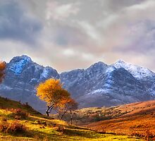 Autumn Snow and Sunlight, Isle of Skye, UK by Mark Kenwood