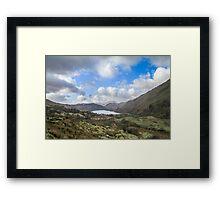 Nant Gwynant Pass and Llyn Gwynant, Snowdonia Framed Print