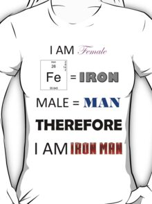 Female Iron Man T-Shirt