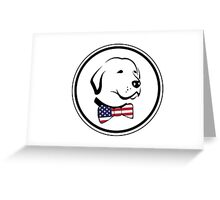 Classy American Dog Greeting Card