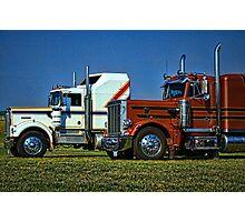 Kenworth and Peterbilt Semi Trucks Photographic Print