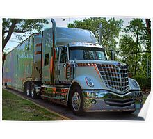 2009 International LoneStar Car Transport Semi-Truck Poster