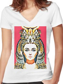 Elizabeth Taylor, alias in Cleopatra Women's Fitted V-Neck T-Shirt