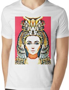 Elizabeth Taylor, alias in Cleopatra Mens V-Neck T-Shirt
