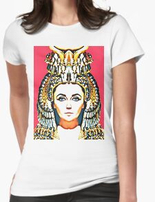 Elizabeth Taylor, alias in Cleopatra Womens Fitted T-Shirt