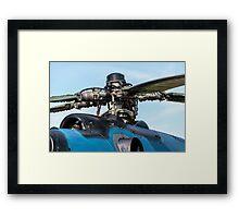 Helicopter engine. Framed Print