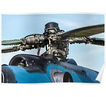 Helicopter engine. Poster
