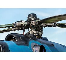 Helicopter engine. Photographic Print
