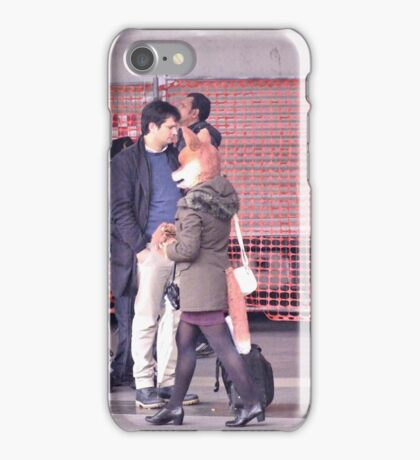 the fox lady in the station (passing) iPhone Case/Skin
