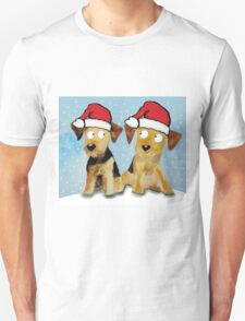 Airedale Terriers 'Merry Christmas' T-Shirt