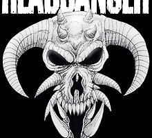Headbanger Demon Skull by Luke Kegley