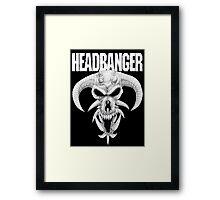 Headbanger Demon Skull Framed Print