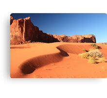Sand Dune and Sage Brush, Monument Valley Canvas Print