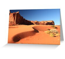 Sand Dune and Sage Brush, Monument Valley Greeting Card