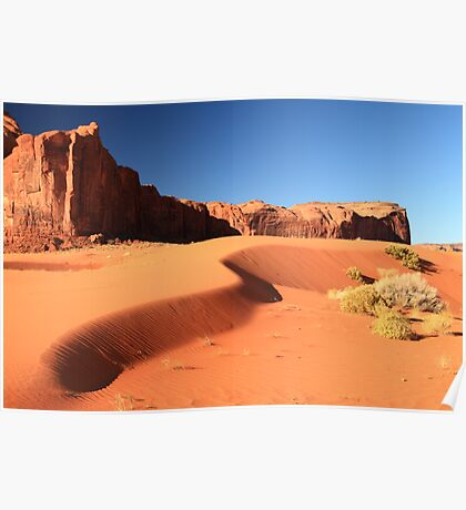 Sand Dune and Sage Brush, Monument Valley Poster