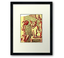 Lusty ~ The Cat and The Rose Framed Print