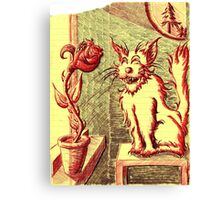 Lusty ~ The Cat and The Rose Canvas Print