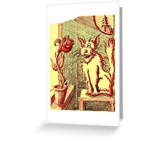 Lusty ~ The Cat and The Rose Greeting Card