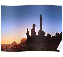 Sunrise in Monument Valley Poster