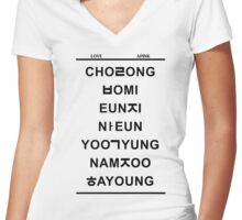 love apink Women's Fitted V-Neck T-Shirt