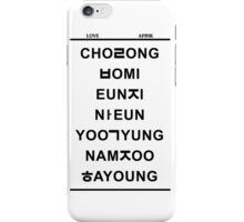 love apink iPhone Case/Skin