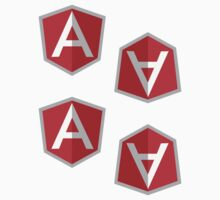AngularJS ×4 by csyz ★ $1.49 stickers