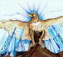 golden bird - from wings and dreams by Catherine  Courtlandt McElvane