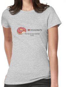 I Love Doughnuts  Womens Fitted T-Shirt
